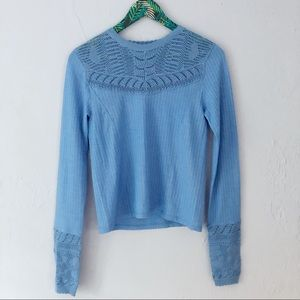 Free People Colette Blue Sweater Small
